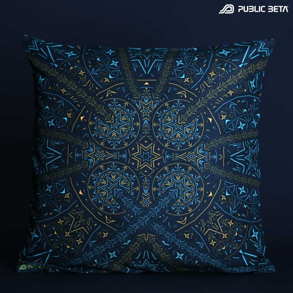 Fortune Teller UV D141 Glow in Blacklight Pillow Cover / Psydeco
