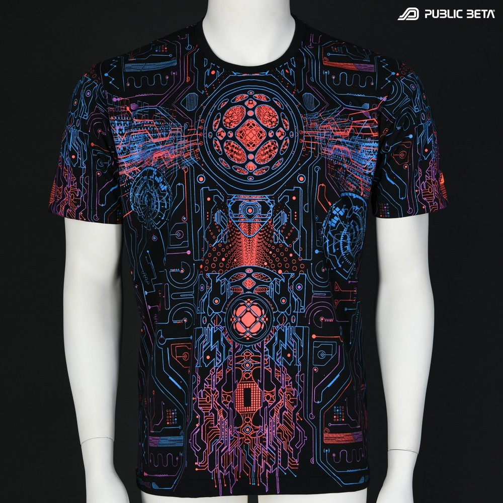 Blacklight Active Psy T-Shirt / Motherboard UV D146