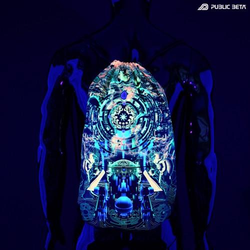 Zion UV D123 UV / Glow in Blacklight Backpack