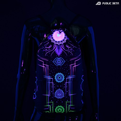 Glow in Blacklight  Backpack / Chakra Power D112 UV