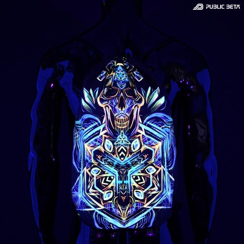 Sacred Skull D102 UV / Glow in Blacklight Backpack