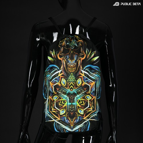 Glow in Blacklight Psyart Printed Backpack