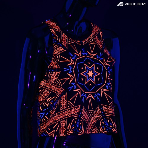 Fortune Teller UV D141 / Raw Cut Crop Top