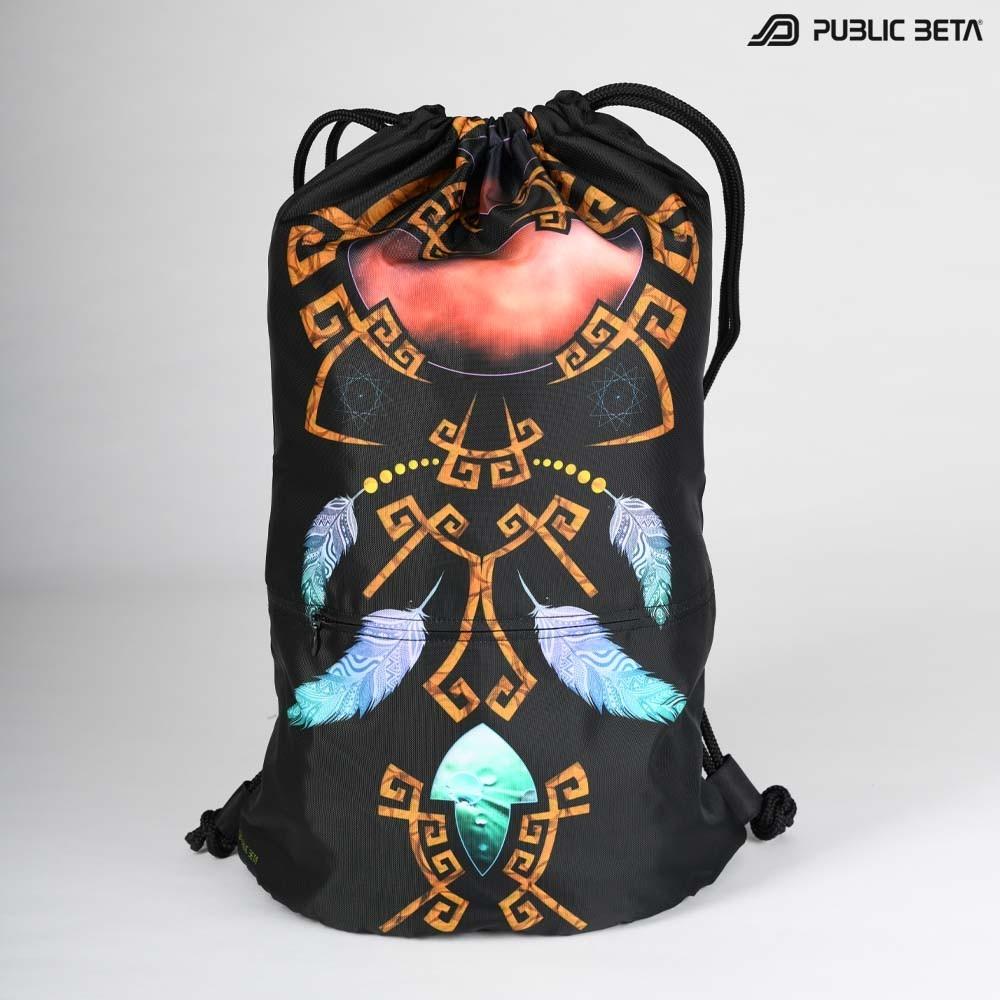Blacklight Drawstring Backpack / Astral D145 UV