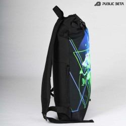 Glow in Blacklight Roll-Top Backpack / Source UV D59