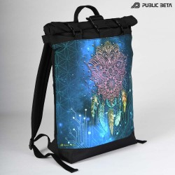 Glow in Blacklight Roll-Top Backpack / Glow UV D130
