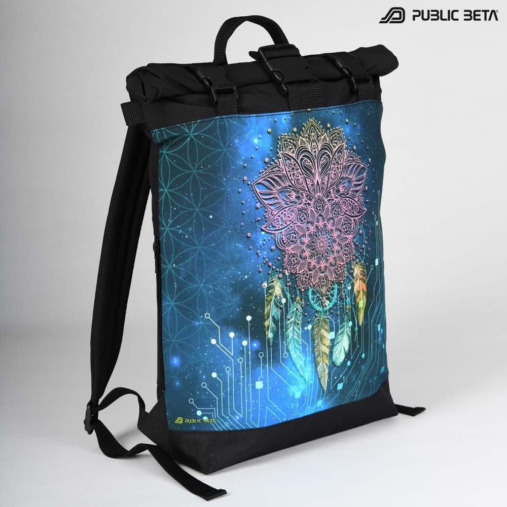 Glow in Blacklight Roll-Top Backpack / Glow UV D130