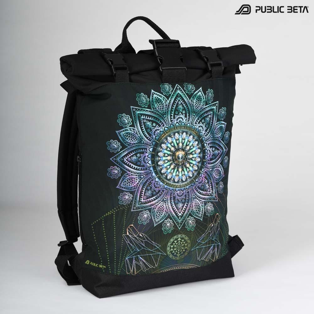 Glow in Blacklight Roll-Top Backpack / Singular UV D131