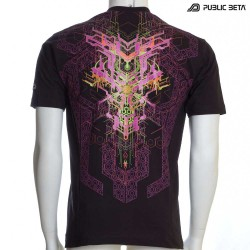 Psytrance Blacklight Art on T-Shirt