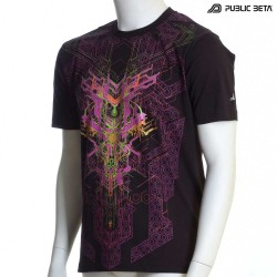 Psytrance Blacklight Art on T-Shirt