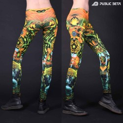 Zion D123 Blacklight Art Printed Leggings