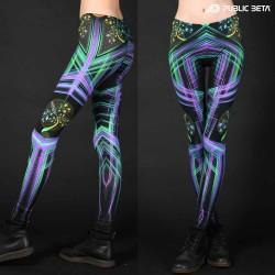 Futuristic , techno alternative fashion leggings