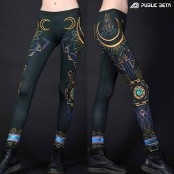 Glow in Blacklight Leggings / DigitalShiva D114