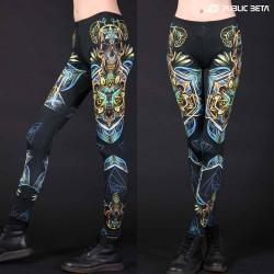 UV reactive design print on leggings