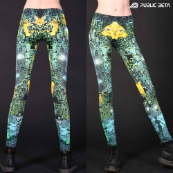 Psychedelic Glow in Blacklight Leggings /Innerverse UV D140