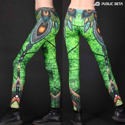 Psywear. UV Active Leggings. Glow yoga pants.