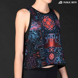 Blacklight Art Printed Cotton Top. Exclusive Style.