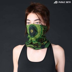 Glow in Blacklight Face Mask. Tube Scarf. Psywear. Psytrance Festival Clothing