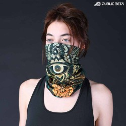 Bandana / Glow in Blacklight Face Mask/ CivilEye D129