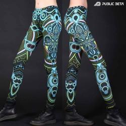 Glow in Blacklight Psywear. Digital Printed Leggings.