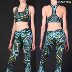 Archaic Trip UV D12 / Blacklight Leggings