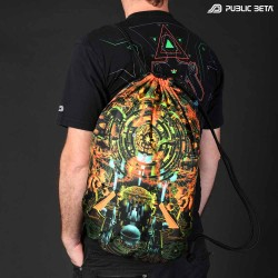 Glow in Blacklight Psyart Printed Backpack.