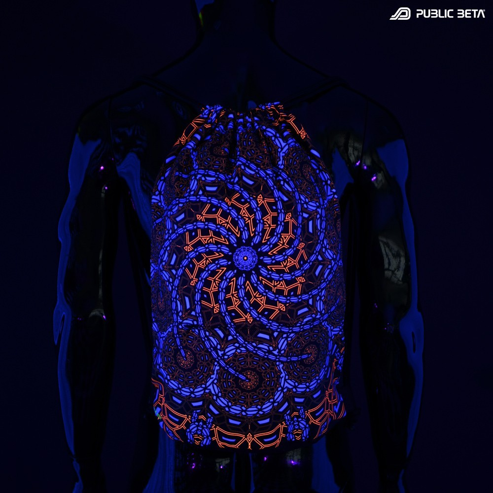 Glow in Blacklight  Backpack / Sequence D127 UV