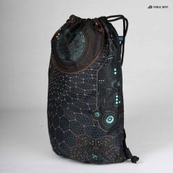 Glow in Blacklight Psyart Printed Backpack.