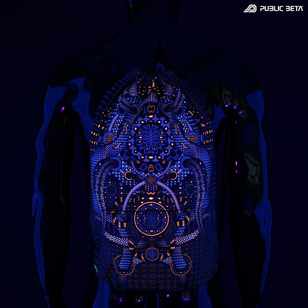 Glow in Blacklight  Backpack / Autonom D77 UV