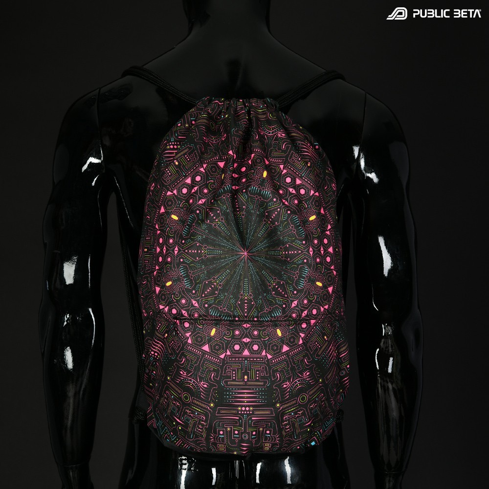 Blacklight Drawstring Backpack / Maya Machine D115 UV
