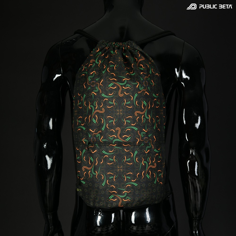 Blacklight Drawstring Backpack / Neural Connect D139 UV