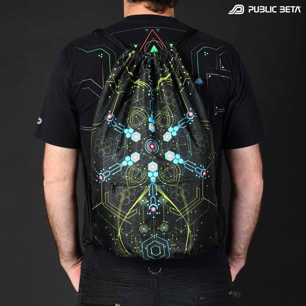 Blacklight Drawstring Backpack / Atomic Generator D2 UV