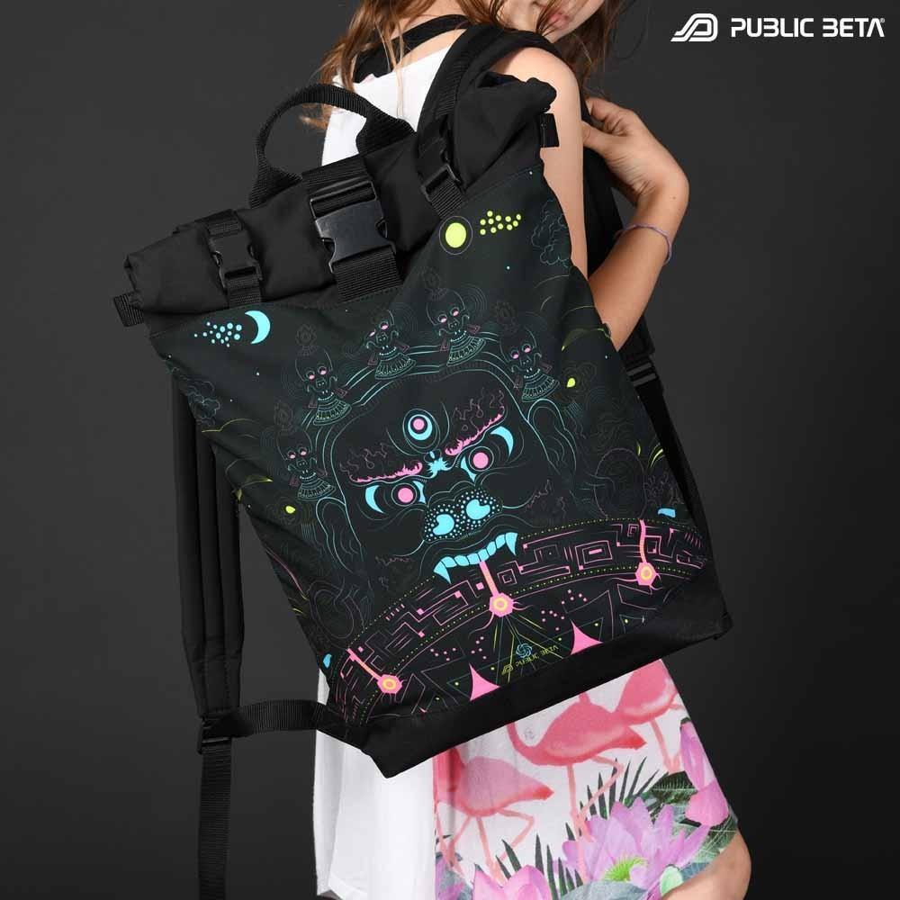 Mara's Gate UV D94/ Glow in Blacklight Roll-Top Backpack