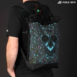 Glow in Blacklight Roll-Top Backpack / BOT UV D121