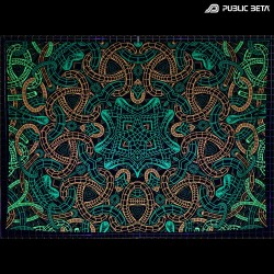 Knoty D143 Blacklight Active Psyart Tapestry
