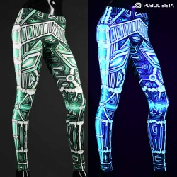 Blacklight Leggings / Plazma Heart UV D154