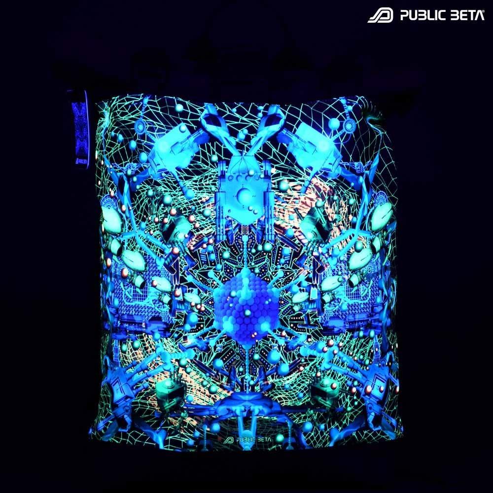 Neurotunnel UV D147/ Glow in Blacklight Roll-Top Backpack