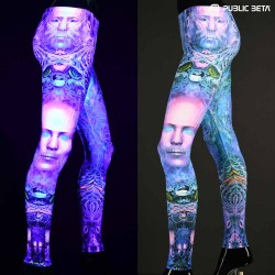 Blacklight Art Printed Leggings