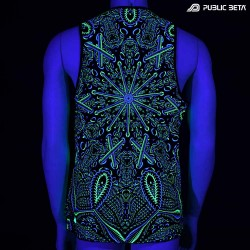 Psycrifise UV D125 Sleeveless Shirt / UV Active Art Print