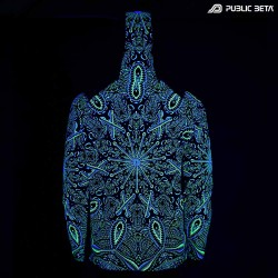 Psycrifise UV D125 Hooded Sweater / Blacklight Psywear