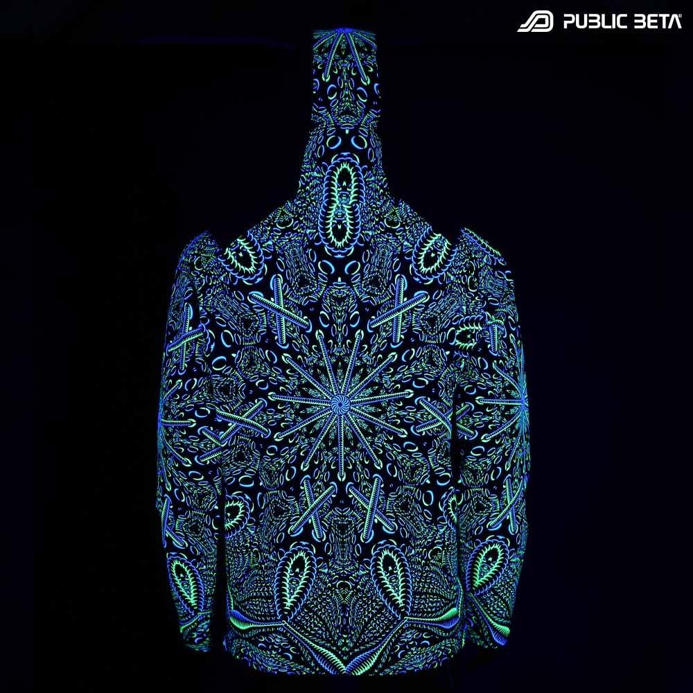 Psycrifise UV D125 Hooded Sweater / Blacklight Psywear