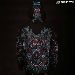 UV Active Psyart Printed Hooded Sweater / Kali UV D150