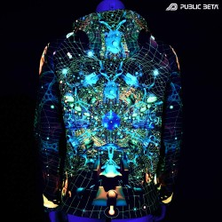 Blacklight Psychedelic Sweater Psywear Psytrance