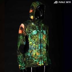 Neurotunnel Blacklight Psychedelic Sweater Psywear Psytrance