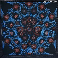 Blacklight Active Art Tapestry / Split by Sound UV D126