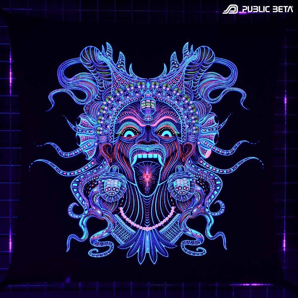 Kali UV D150 Cotton Tapestry Psychedelic UV Art Print