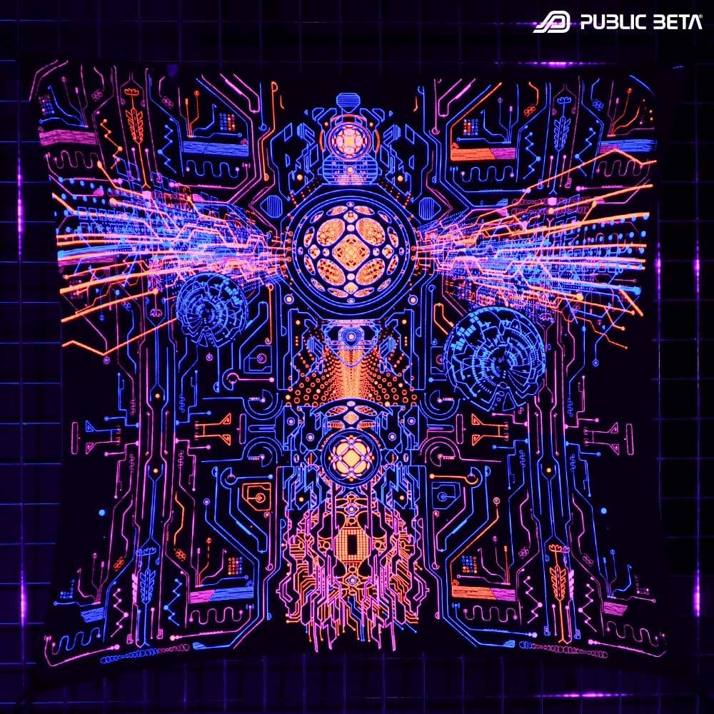 Blacklight Psyart Decoration