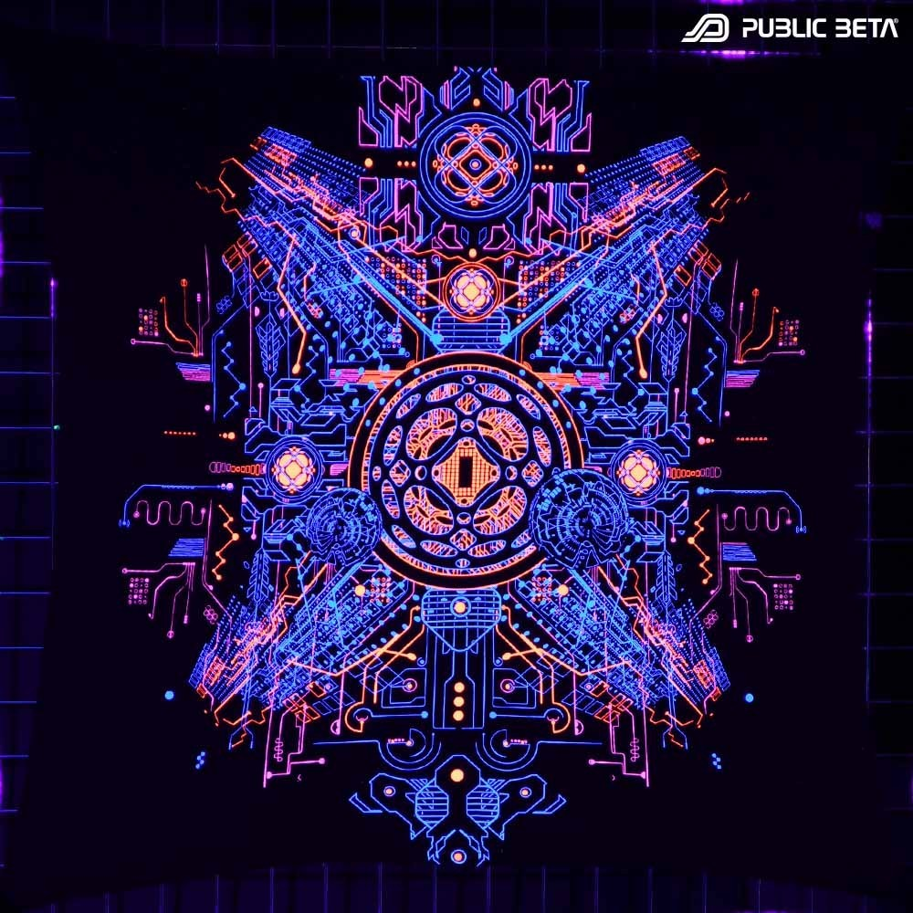 Glow in Blacklight Wall Decoration