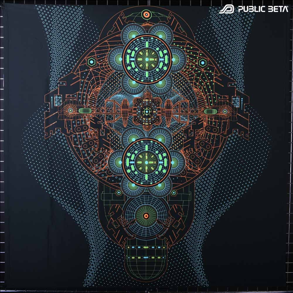 BioSonar - Psytrance Blacklight Deco
