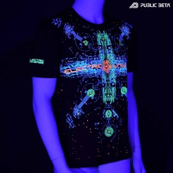 Electric Universe  Blacklight Psytrance T-Shirt by Public Beta Wear